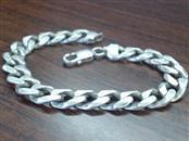 Silver Curb Bracelet 925 Silver 28.6g